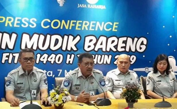Konperensi pers Mudik Bareng BUMN 2019.