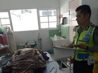Korban saat di UGD RSUD Ali Hanafiah Batusangkar.