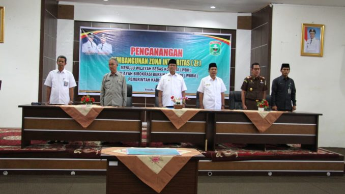 Pembangunan ZI Melalui WBK & WBBM Dicanangkan di Kabupaten Solok