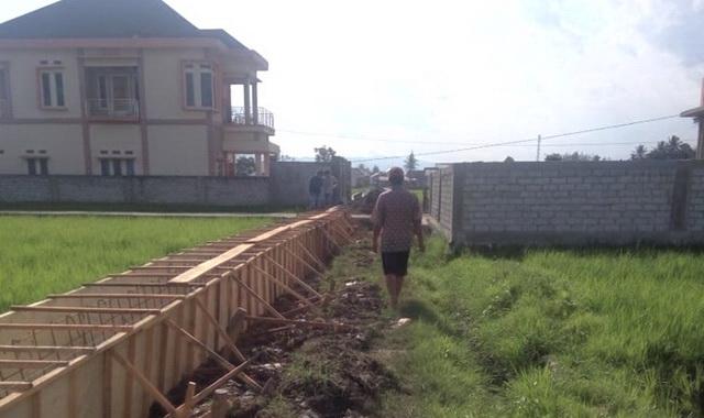 Proyek drainase tanpa plang di di Desa Baru, Kubang Kab. Kerinci.