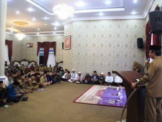 Rakor evaluasi program Magrib Mengaji dan Subuh Berjamaah di Kab. Solok.