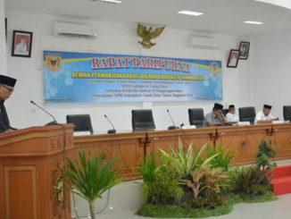 Rapat Paripurna DPRD Kab. Tanah Datar.