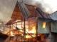 Rumah H. Rahman saat dilalap api.