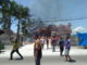 Situasi saat terbakarnya kantor KAN Gunung Talang.