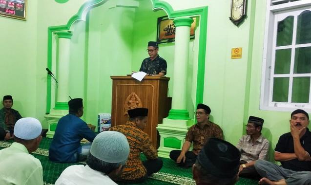 TSR VI Kota Solok saat berkunjung ke Masjid Al-Ikhsan.