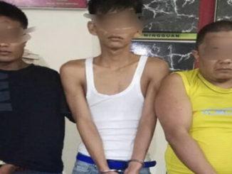 Tiga pengedar dan pengguna sabu yang diringkus Polres Tanah Datar.