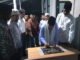 Wagub Nasrul Abit menandatngani prasasti peresmian Mushalla di Bank Nagari Cabang Simpang Empat.
