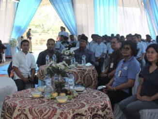 Bupati Gusmal saat menhadiri Halal Bihalal di PT. Tirta Investama Pabrik Solok.