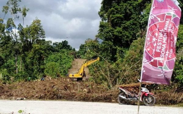 Jalur Evakuasi yang dibangun untuk antispasi dampak bencana di Tua Pejat.