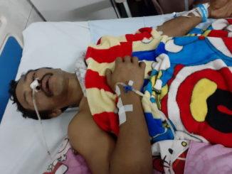 Nazwir saat dirawat di rumah sakit.