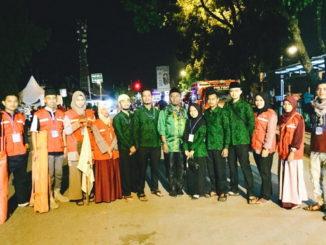 Relawan PMI Kota Solok pada malam pembukaan MTQ Nasional Tingkat Sumbar ke 28.
