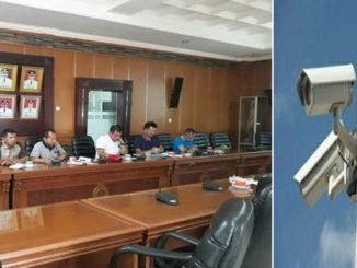 Suasana Rapat terbatas pemanfaatan CCTV antara Polres dan kepala OPD Tanah Datar.