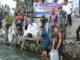 Wagub Nasrul Abit saat melepas bibikit ikam bilih di Danau Singkarak.