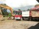 Alat berat dan dump truck yang diamankan Satreskrim Polres Mentawai.