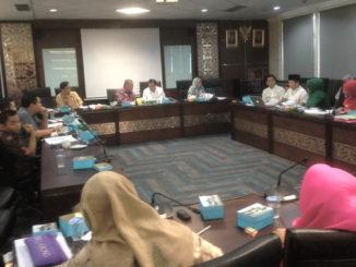 Hearing Komisi 5 DPRD Sumbar dengan Dinas Pariwisata Ssumbar.