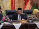 Ketua DPRD Kota Pariaman, Faisal saat memimpin Rapat Paripurna Istimewa HUT Kota Pariaman ke 17.