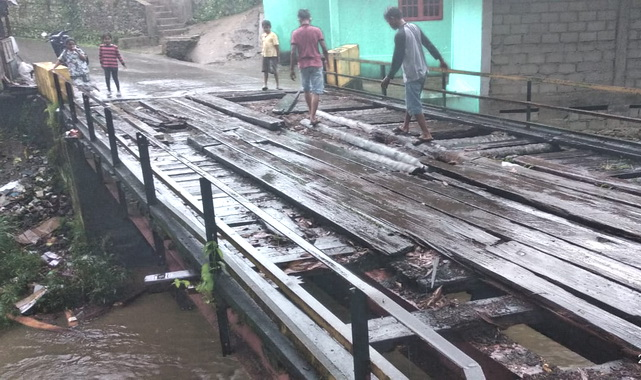 Kondisi jembatan Sawah Sudut.