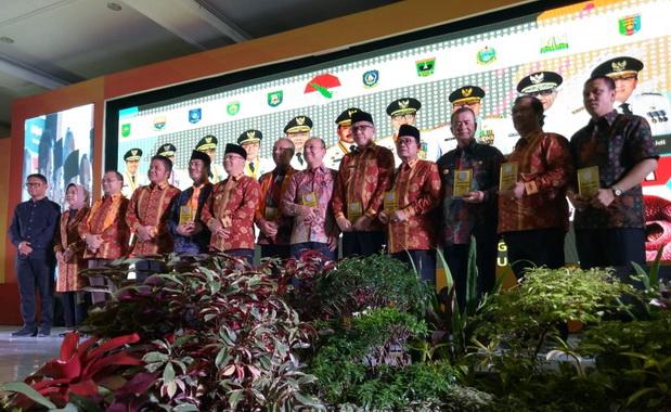 Para peserta Rapat Rakor Gubernur se Sumatera di Hotel Grage Bengkulu.