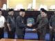Penyerahan berkas Ranperda yang telah disetujui DPRD Kab. Kerinci kepada Bupati Adirozal.