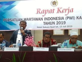 Rapat kerja PWI Kab. Agam.