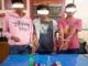 Tiga tersangka pengedar sabu yang ditangkap Satresnarkoba Polres Tanah Datar.