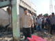 Wagub Nasrul Abit saat meninjau lokasi kebakaran di Lubuk Alung.