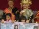 Bupati Indra Catri bersama peserta pawai dari Disdukcapil Kab. Agam.