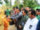 Penyambutan Tim Penilai dan Sekdakab Solok di SMKN 6 Solok.