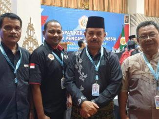 Irmai Hendri bersama Ketua Umum dan pengurus Pengda IPSI Subar yang ikut Rakernas IPSI 2019.