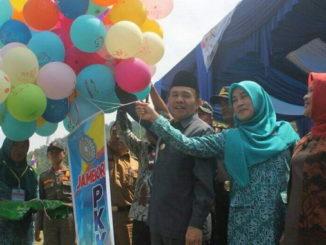 Pelepasan balon tanda diresmikannya Jambore Kader PKK Kab. Kerinci.