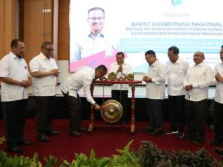 Pembukaan Rapat Koordinasi Nasional Bidang Kehumasan Kementerian Sosial dengan Pemerintah Daerah Provinsi, di Jakarta.
