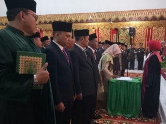 Pengambilan sumpah dan pelantikan Anggota DPRD Kab. Pasaman Periode 2019 - 2024.