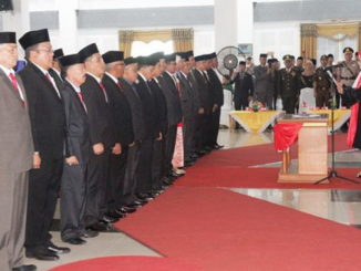 Pengucapan sumpah Anggota DPRD Kab. Tanah Datar Priode 2019 - 2024.