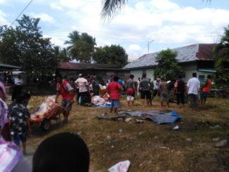 Penyembelihan sapi qurban Mushalla Nurul Hannah Kota Solok.