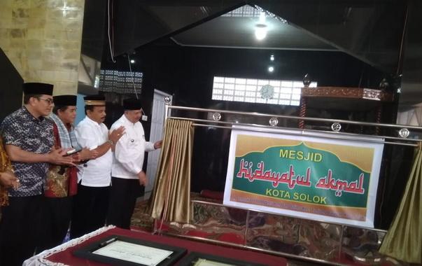 Peresmian mushala menjadi Hidayatul Masjid Amal.