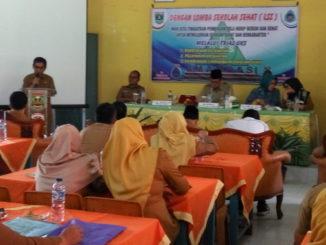 Pertemuan Tim penilai Tingkat Propinsi Sumatera Barat dalam Lomba Sekolah Sehat (LSS) di Sijunjung sebelum melakukan penilaian ke sekolah
