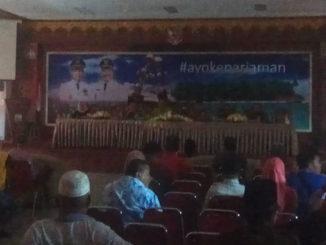 Rakor pembahasan persiapan Hoyak Tabuik tanpa penerangan listrik di Dinas Pariwisata Kota Pariaman.