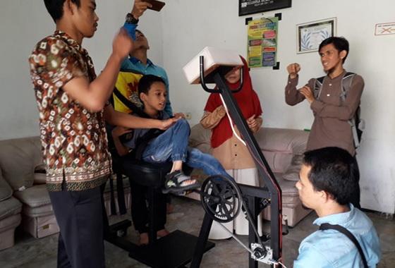 Sepeda terapi karya mahasiswa UNP.