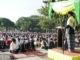 Sholat Idul Adha di Lapangan Cindua Mato Batusangkar.