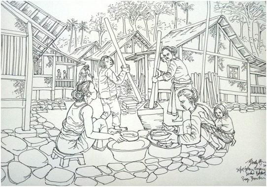 Sketsa Body Dharma, Suku Baduy, 2019