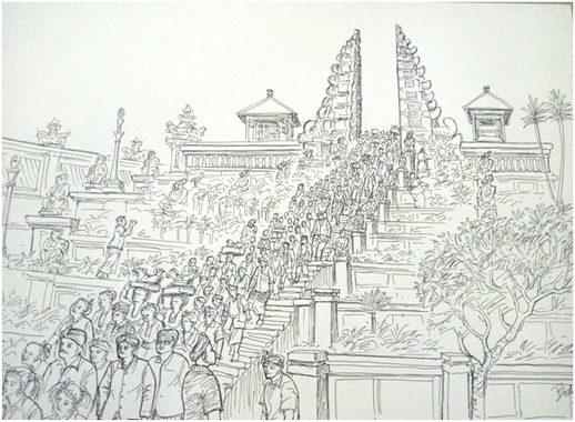 Sketsa Body Dharma,Upacara Ritual di Bali.