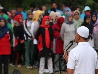 Wakil Bupati H. Zuldafri Darma sedang memberikan pengarahan kepada ASN Pengkab Tanah Datar.
