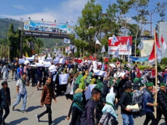 Aksi Demo Tolak RUU KPK dan RKUHP Di Kab. Kerinci dan Kota Sungai Penuh.