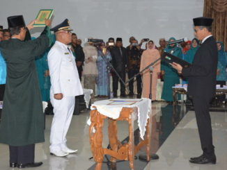 Gubernur Sumbar melantik H. Yulianto sebagai Bupati Pasaman Barat.