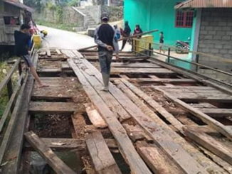 Jembatan di Sawah Sudut yang rusak parah.