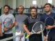 Kapolda Sumbar, Irjen Pol Fakhrizal-Jeffri Wiranda melawan atlet Pra PON Tenis Sumbar 2019, Ichwan Rizaldi-Ficky Hasbi.