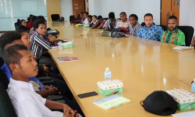 Mahasiswa asal Papua di UNP.