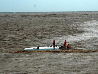 Penyelamatan kecelakaan di laut.