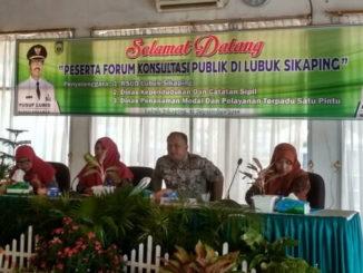 Peserta forum konsultasi publik di aula RSUD Lubuksikaping.
