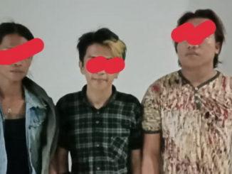 Tiga pemakai narkoba yang ditangkap Polsek Talang.